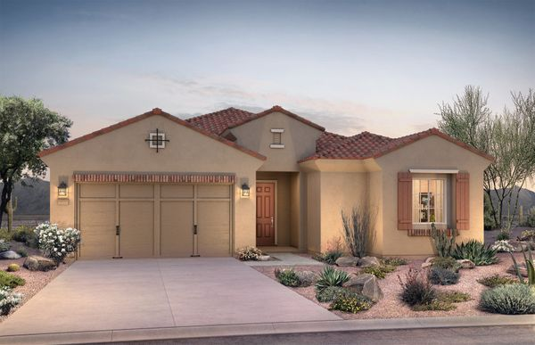 Exterior:Parklane Elevation A Home For Sale in Goodyear
