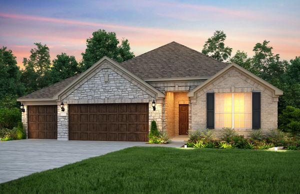 Mckinney:The McKinney, a one-story home with 3-car garage, shown with Home Exterior D
