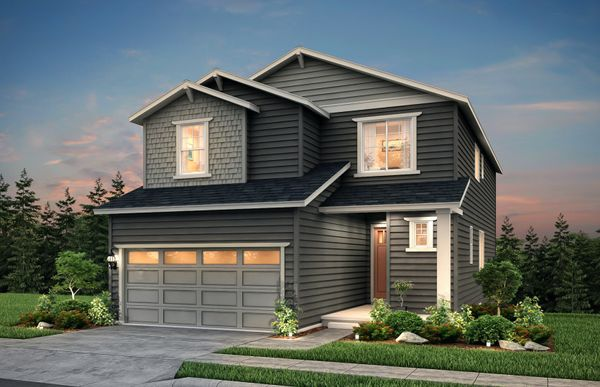 Edmonds:The Edmonds, a two-story single family home shown in Exterior Home Design B.