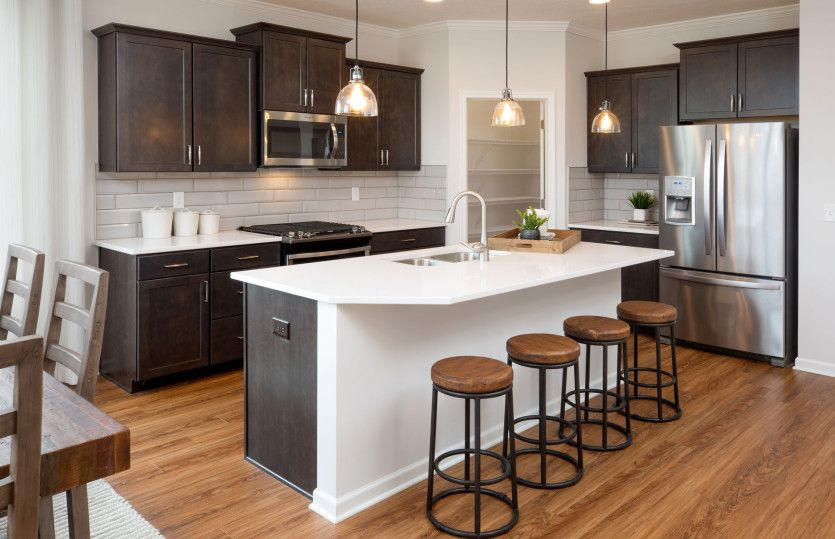 Linwood:Kitchen with Large Island for Additional Seating