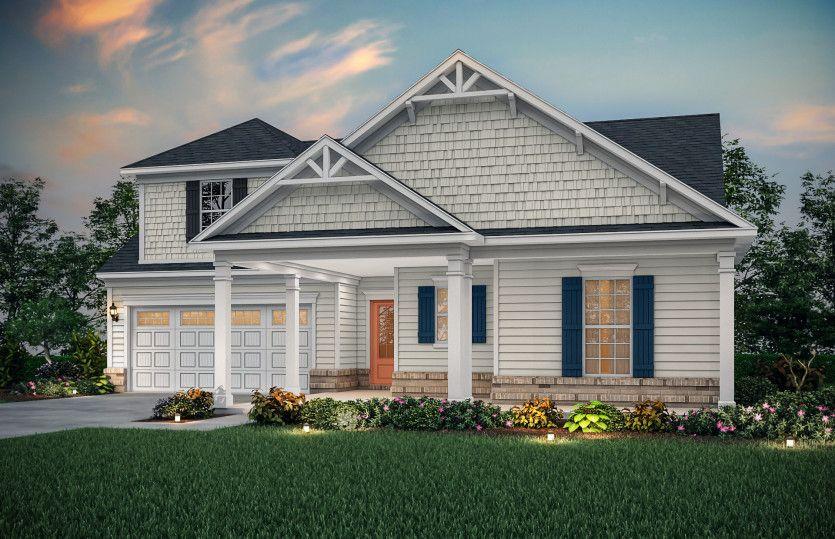 Bridgestone:Bridgestone Exterior 5 features siding, shakes, brick accents and covered front porch