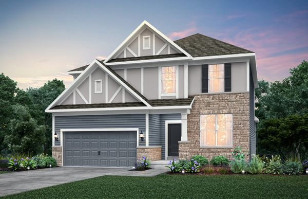 Continental:Home Design EC2G - Exterior includes Brick Wainscot on front façade. See sales for details.