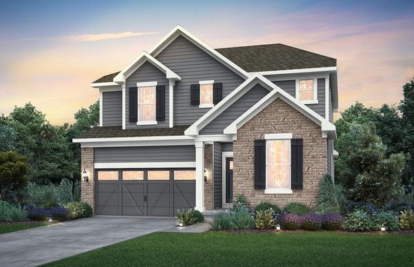 Fifth Avenue:Home Design NC2M - Exterior includes Brick Wainscot on front façade. See sales for details.