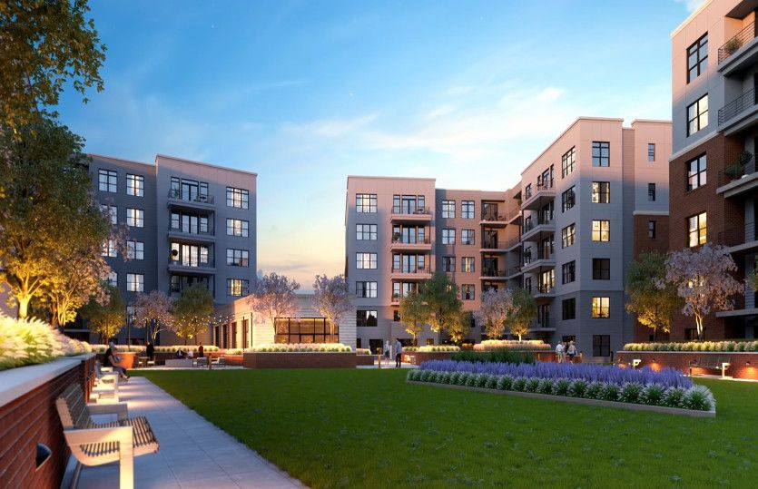 2.2D - Building 3 and 4:New luxury 1-level elevator condos in Fairfax just footsteps from the Vienna/Fairfax Metro!