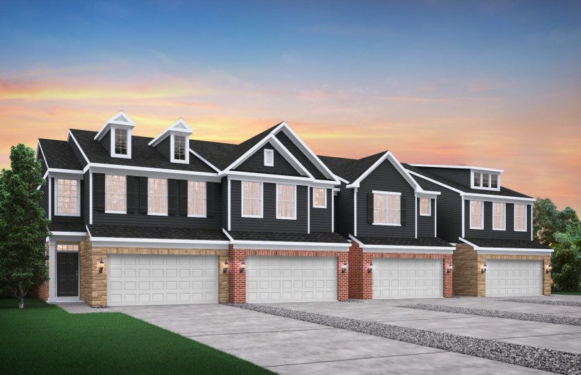 Exterior:4-Unit Townhome