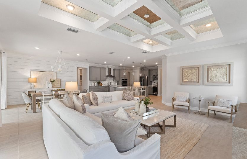 Reverence:Additional view of spacious Gathering Room with optional tray ceiling
