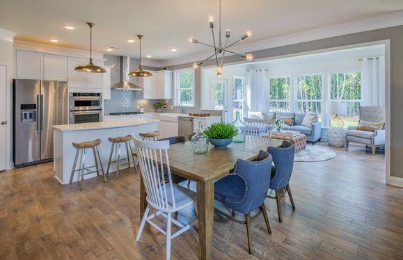 Open spacious kitchens
