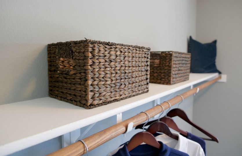 Rayburn:Wood Shelving in Closets