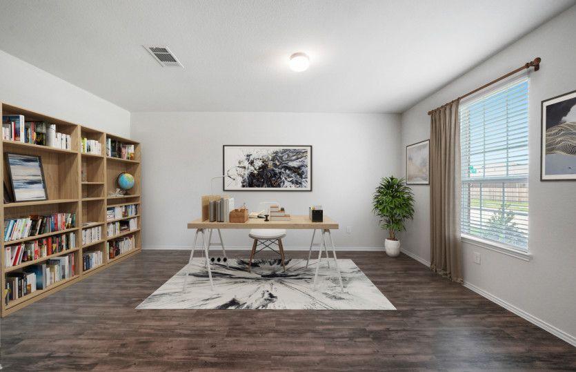 Morgan:Flexible living space shown as study