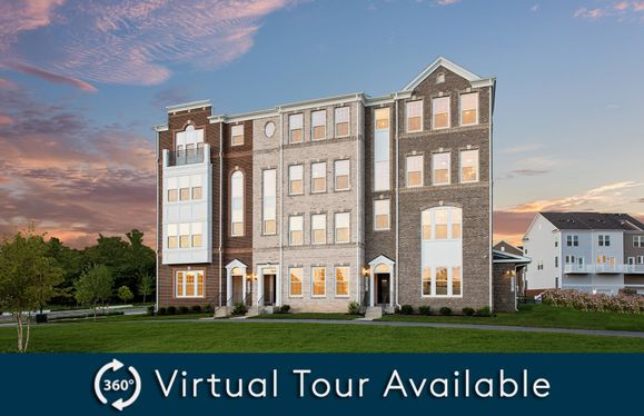 Exterior:Model Representation - New luxury 2-level condos for sale in Germantown, MD at Century Row.