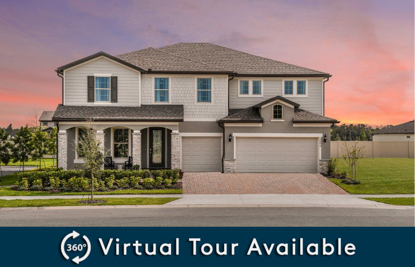 Mariner:New Construction Home For Sale at Retreat at Lake Brantley - Exterior 3