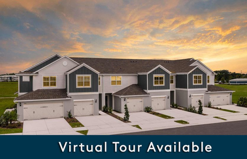 Montenero:New Construction Townhomes For Sale at Somerset Crossings by Pulte Homes