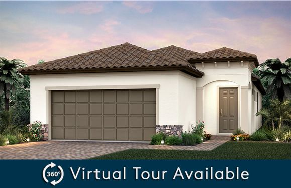 Crestview:Home Exterior FM2A with arched entryway and tile roof