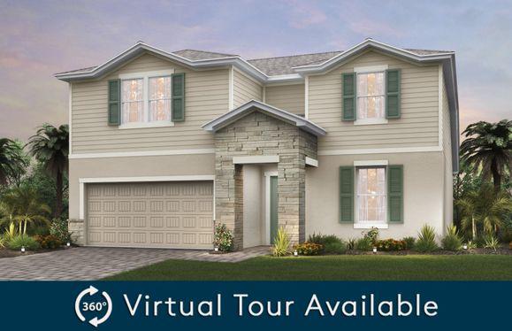 Citrus Grove:The Citrus Grove, a two-story home with a 2 car garage, shown as Home Exterior FM2A