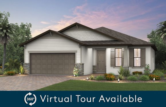 Canopy:The Canopy, a one-story family home with a 2 car garage, shown with Home Exterior C2C.