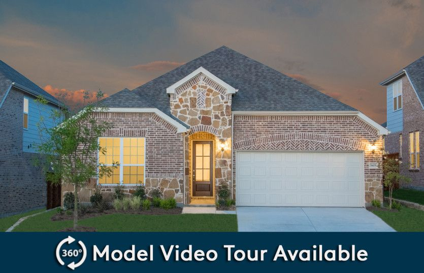 Arlington:Exterior C, with stone accents and a 2-car garage with extra storage space