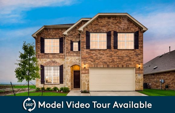Caldwell:The Caldwell, a two-story new construction home with 2-car garage, shown as Home Exterior C