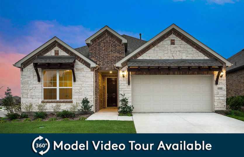 Mooreville:The Mooreville, a two-story new construction home with 2-car garage, shown with Home Exterior D