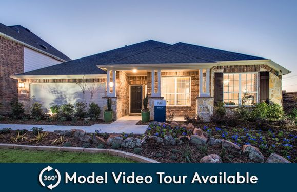 Dunlay:The Dunlay, a one-story home with 2-car garage (cedar in Grayhawk Park), shown with Home Exterior  D