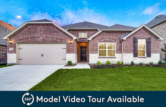 Northlake:The Northlake, a one-story home with 2-car garage (cedar at Grayhawk Park), shown with Home Exterior