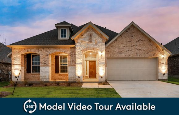 Kennedale:The Kennedale, a two-story home with 2-car garage (cedar at Grayhawk Park), shown with Home Exterior