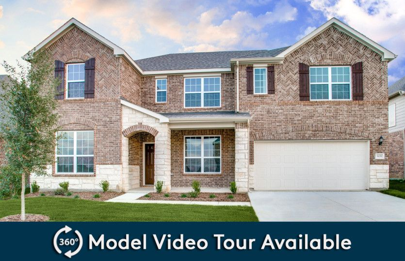 Mansfield:The Mansfield, a 2-story home with shutters, shown with Home Exterior D