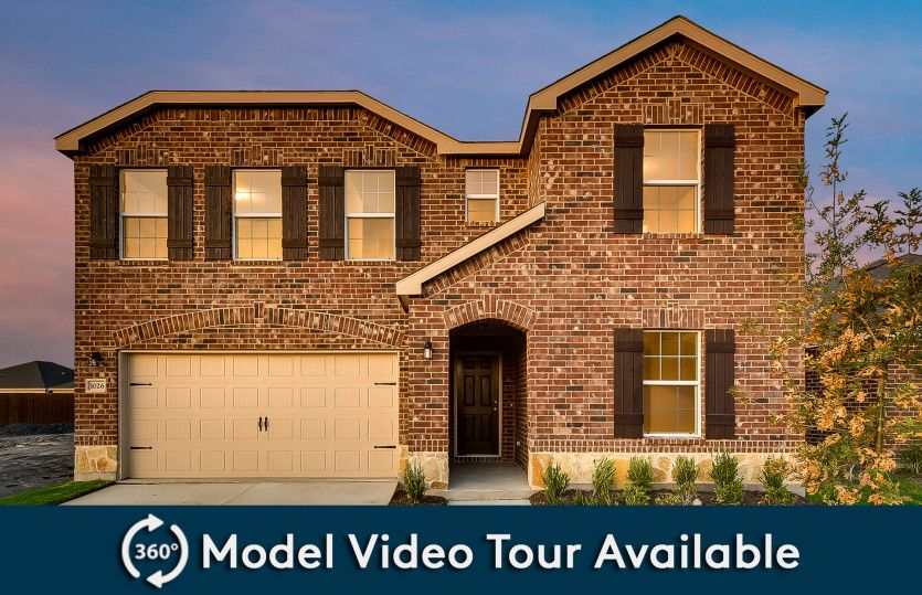 Thomaston:The Thomaston, a two-story home with 2-car garage, shown with Home Exterior E