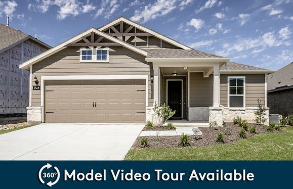 Emory:The Emory, a one-story home with 2-car garage, shown with Home Exterior 40
