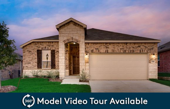 Eastgate:The Eastgate, a one-story home with 2-car garage, shown with Home Exterior Q