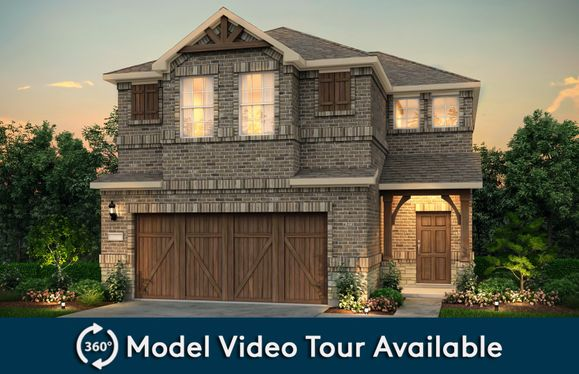 Nelson:The Nelson, a two-story home with 2-car garage, shown with Home Exterior S