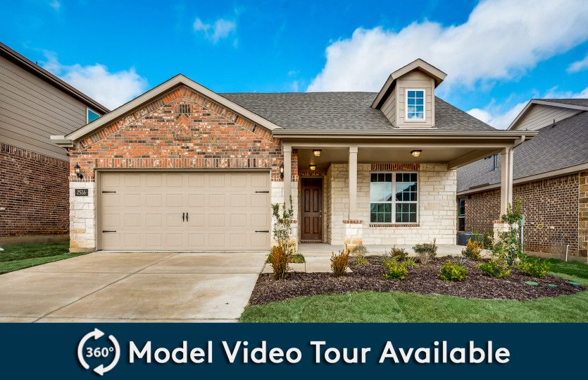 Emory:The Emory, a one-story home with 2-car garage, shown with Home Exterior 37
