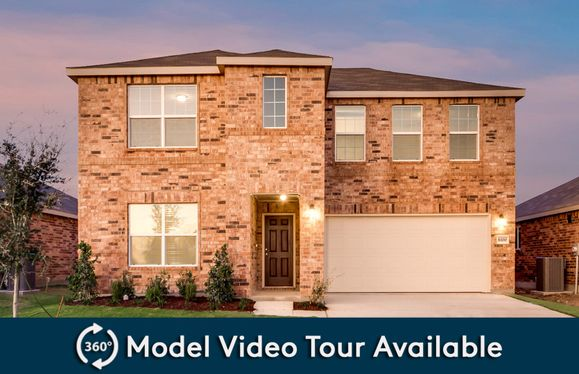 La Salle:The La Salle, a two-story home with 2-car garage, shown with Home Exterior D