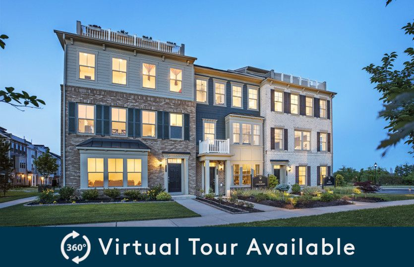 Emerson with Roof Terrace:Stately 4-Level Townhomes with Golf Course Views.