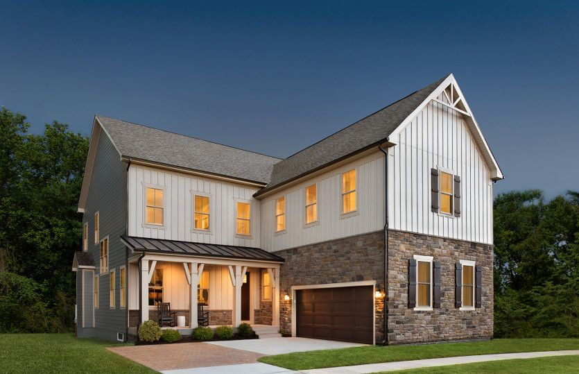 Exterior:Single-Family Model Home at Tower Oaks in Rockville, Maryland
