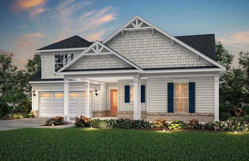 Bridgestone:Bridgestone Exterior 5 features siding, shakes, brick accents and covered front porch