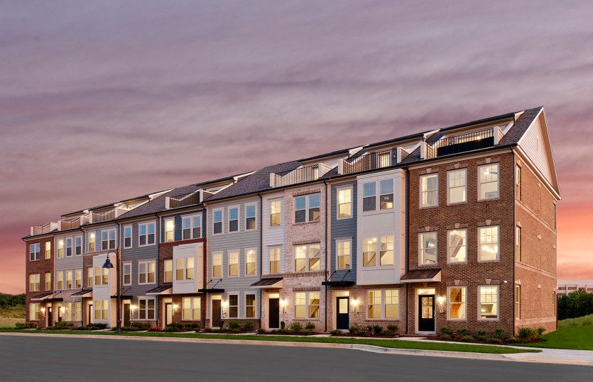 Baywood:Luxurious & Spacious 4-Level Townhomes at Crown in Gaithersburg, MD.