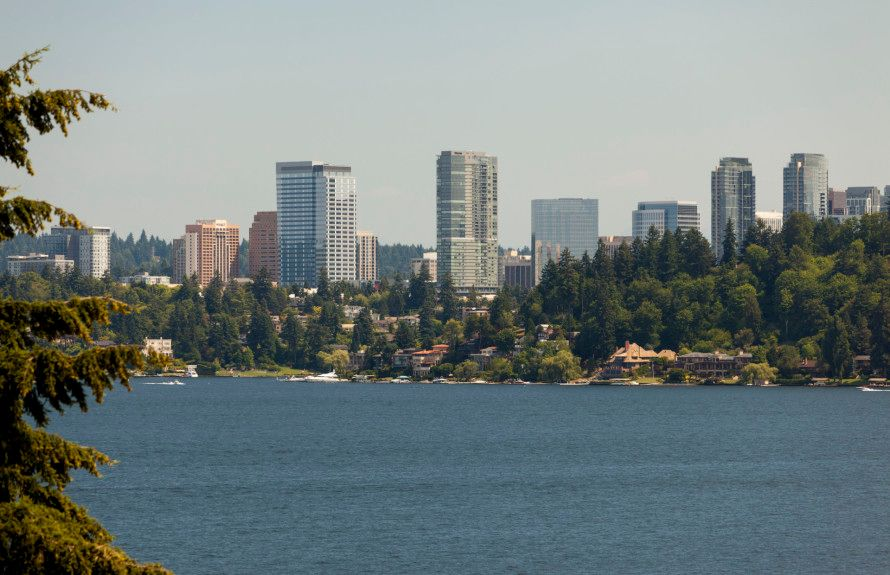 2 miles from downtown Bellevue