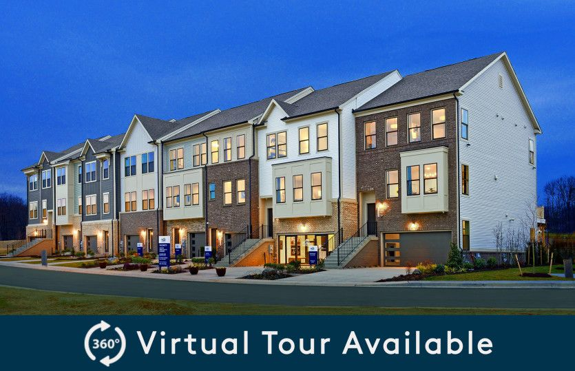 Exterior:Model Representation - New Townhomes in Laurel, MD at Watershed, located next to the Patuxent Wildlife Refuge