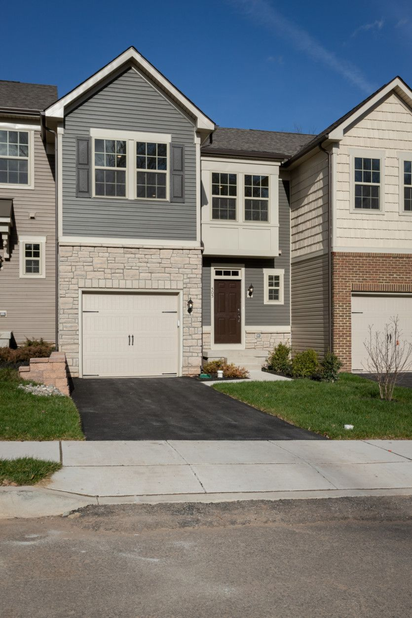 Exterior:Move-in Ready new construction townhome at Valley Forge Greene