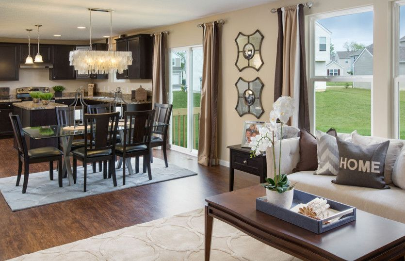 Crisfield:Open Concept Layout Featuring the Kitchen and Cafe/Dining Area