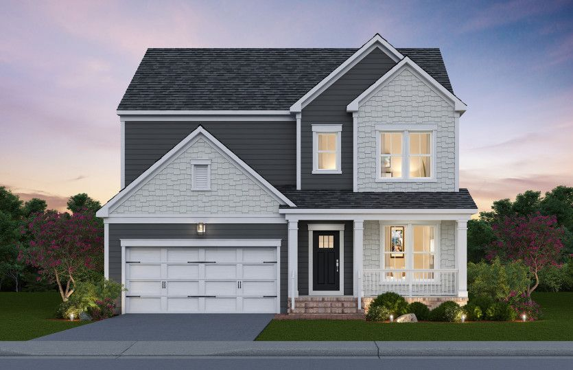Newberry:Newberry Exterior Rendering – Elevation 1 at Potomac Shores