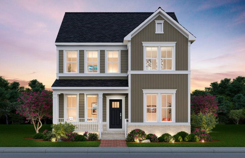 Portland:Portland Exterior Rendering – Elevation 1 at Potomac Shores