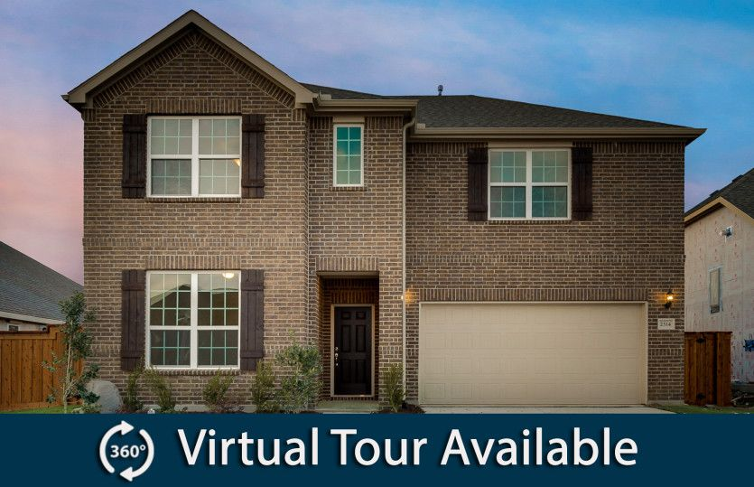 Lockhart:The Lockhart, a two-story home with 2-car garage, shown with Home Exterior A