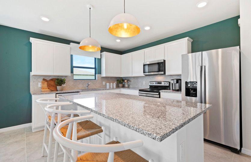 Hanover:Kitchen with Center Island