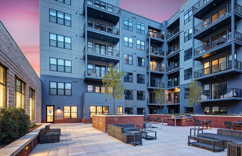 Exterior:New luxury 1-level elevator condos in Fairfax just footsteps from the Vienna/Fairfax Metro!