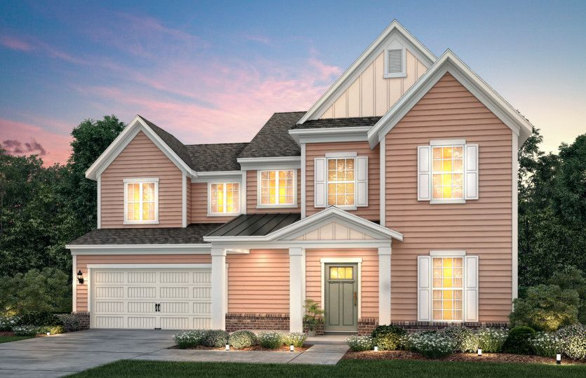 Waterstone:Waterstone Exterior LC3G features siding, brick accents and covered front porch