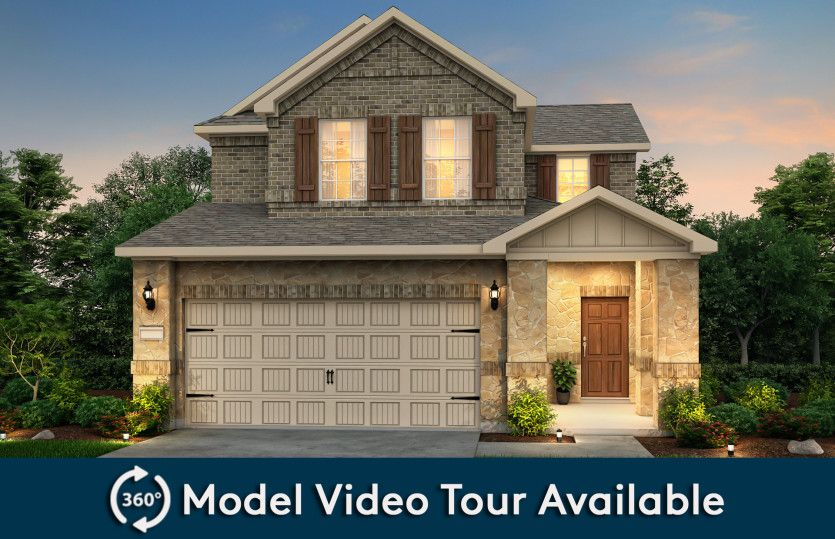 Harrison:The Harrison, a two-story home with 2-car garage, shown with Home Exterior U