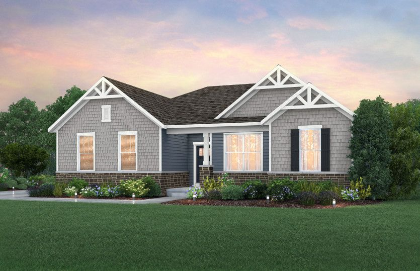 Amberwood:NC2G - Elevation includes stone wainscot. See sales for details