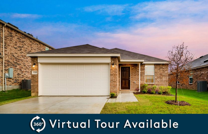 Hewitt:The Hewitt, a one-story home with 2-car garage, shown with Home Exterior N