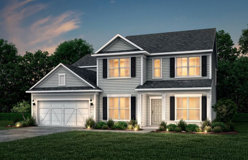 Riverton:Riverton Exterior 51 features Hardie Board siding, covered front porch and 2 car garage